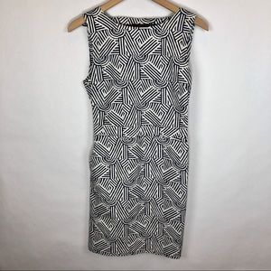 Kate Spade Saturday fitted navy white print dress